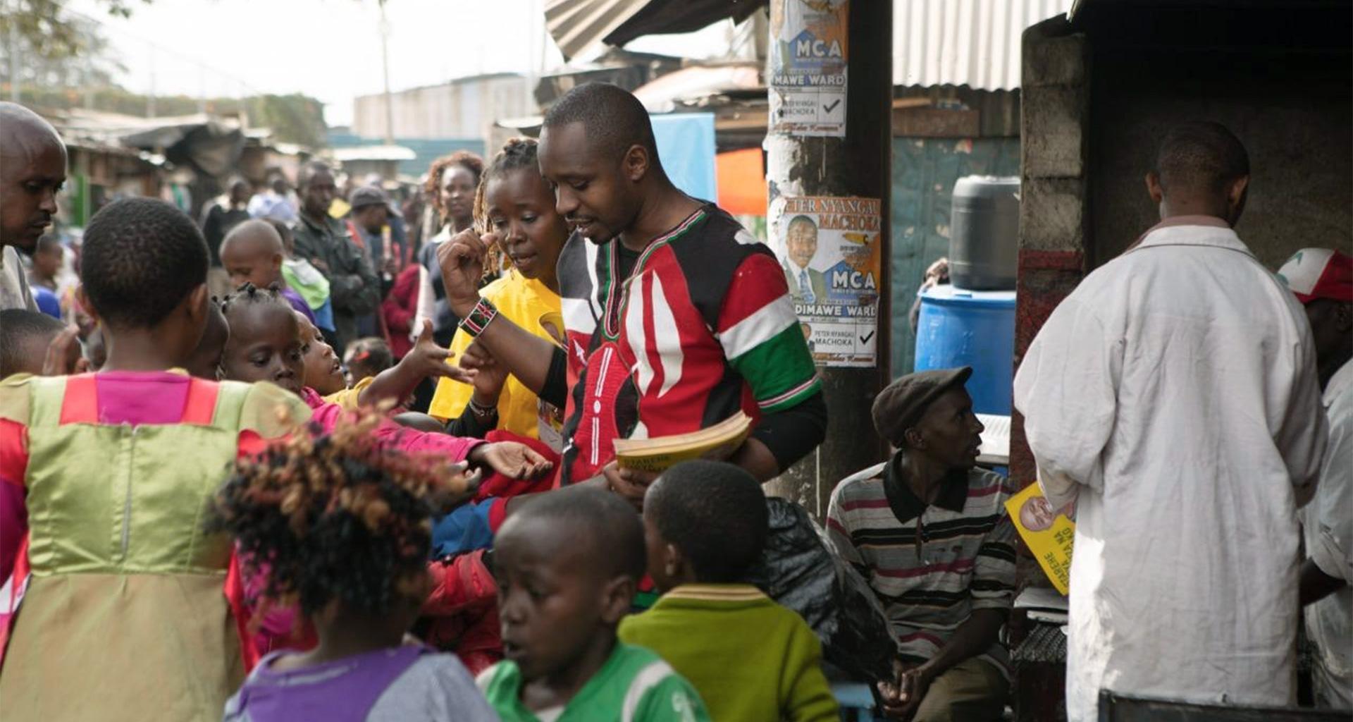 "The activist Boniface ""Softie"" Mwangi and his wife Njeri"